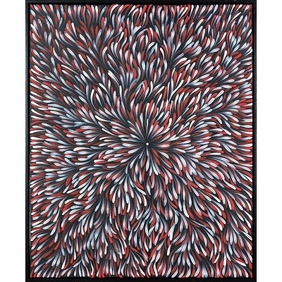 Margaret Price (born c1945, Anmatyerre/ Alyawarr language group), Bush Medicine, Synthetic Polymer Paint on Canvas, 90 x 73 cm
