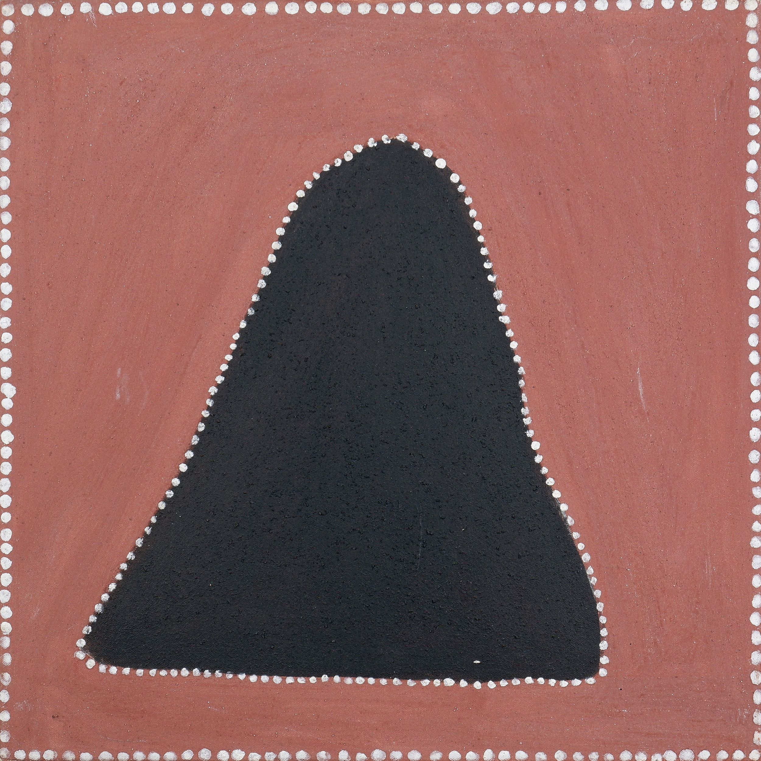 'Gordon Barney (born 1944, Gija language group), Goorlowliy, Natural Ochre and Pigments on Canvas, 45 x 45 cm'