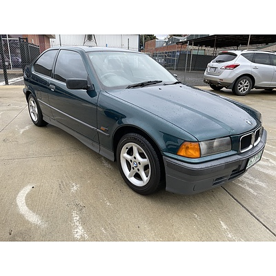 5/1995 Bmw 3 16i Compact E36 3d Hatchback Green 1.6L