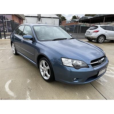 3/2006 Subaru Liberty 2.5i Premium MY06 4d Sedan Blue 2.5L