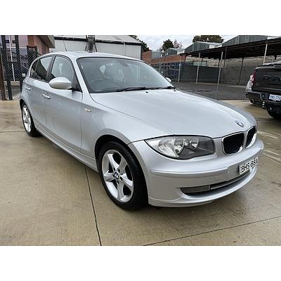 11/2008 BMW 120i E87 MY09 5d Hatchback Silver 2.0L