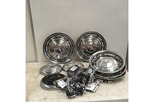 Assorted Classic Mercedes Benz Hubcaps