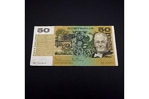 Australian Johnston/Stone $50 Note, YKC946624