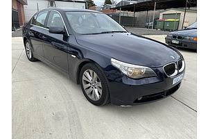 6/2006 BMW 525i E60 MY06 UPGRADE 4d Sedan Blue 2.5L