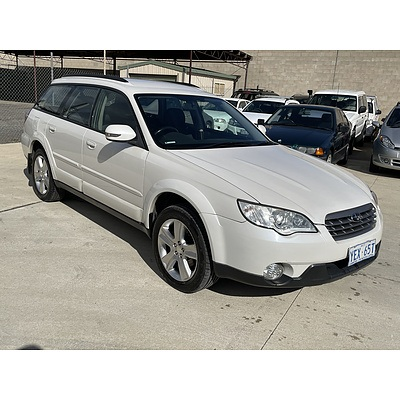 3/2007 Subaru Outback 2.5i MY07 4d Wagon White 2.5L