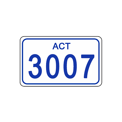 ACT Number Plate 3007