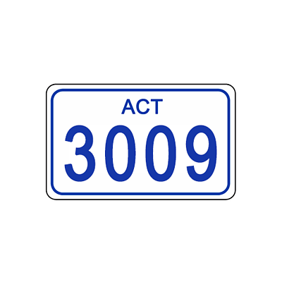 ACT Number Plate 3009