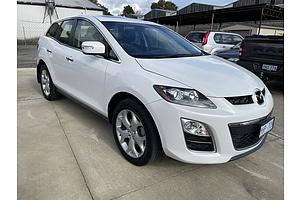 9/2011 Mazda Cx-7 Luxury Sports (4x4) ER MY10 4d Wagon White 2.3L