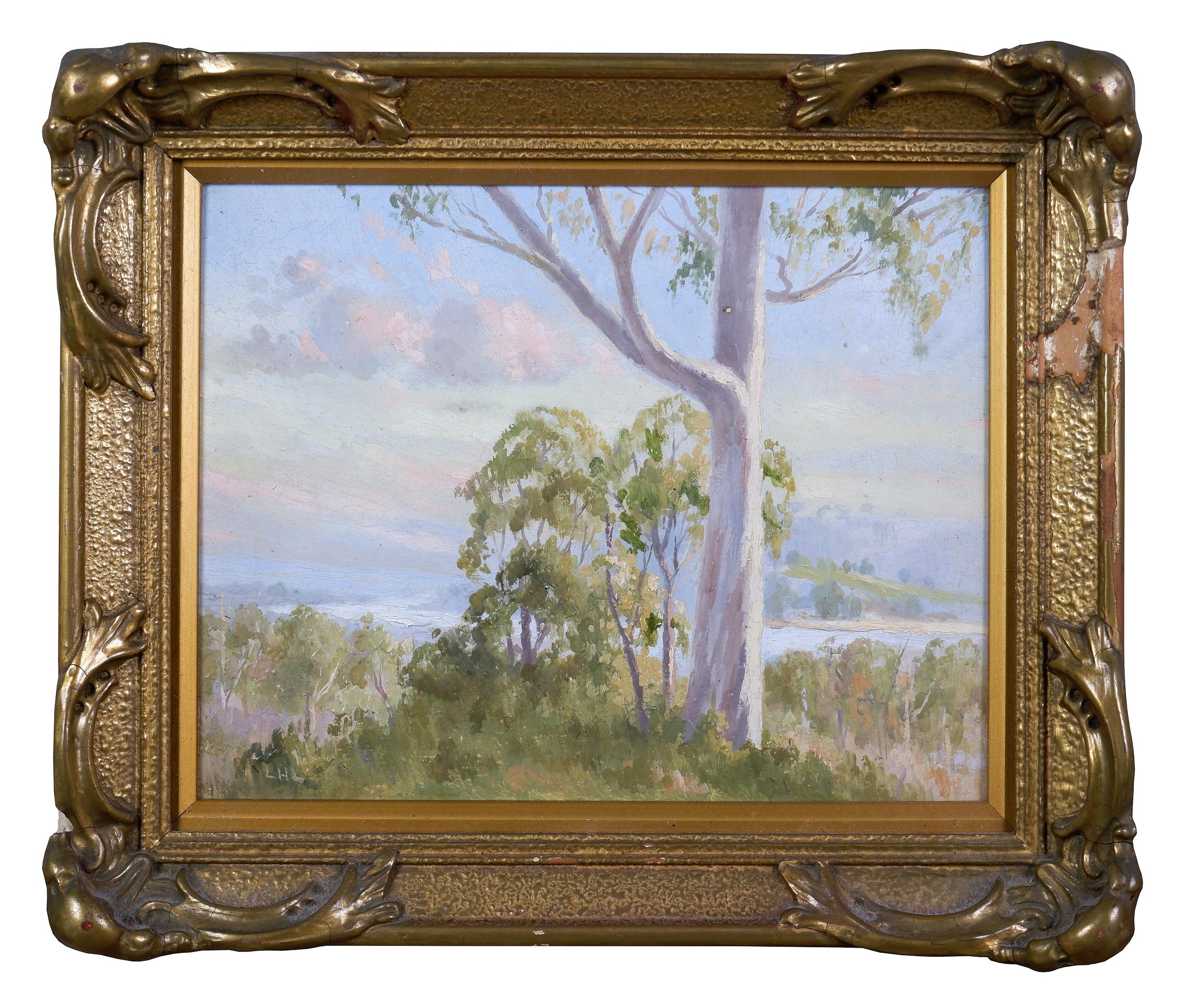 'Leonard Long (1911-2013), Summer Hill, New South Wales, Oil on Board, 18.5 x 22.5 cm'