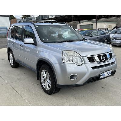 1/2011 Nissan X-trail ST (4x4) T31 MY11 4d Wagon Silver 2.5L