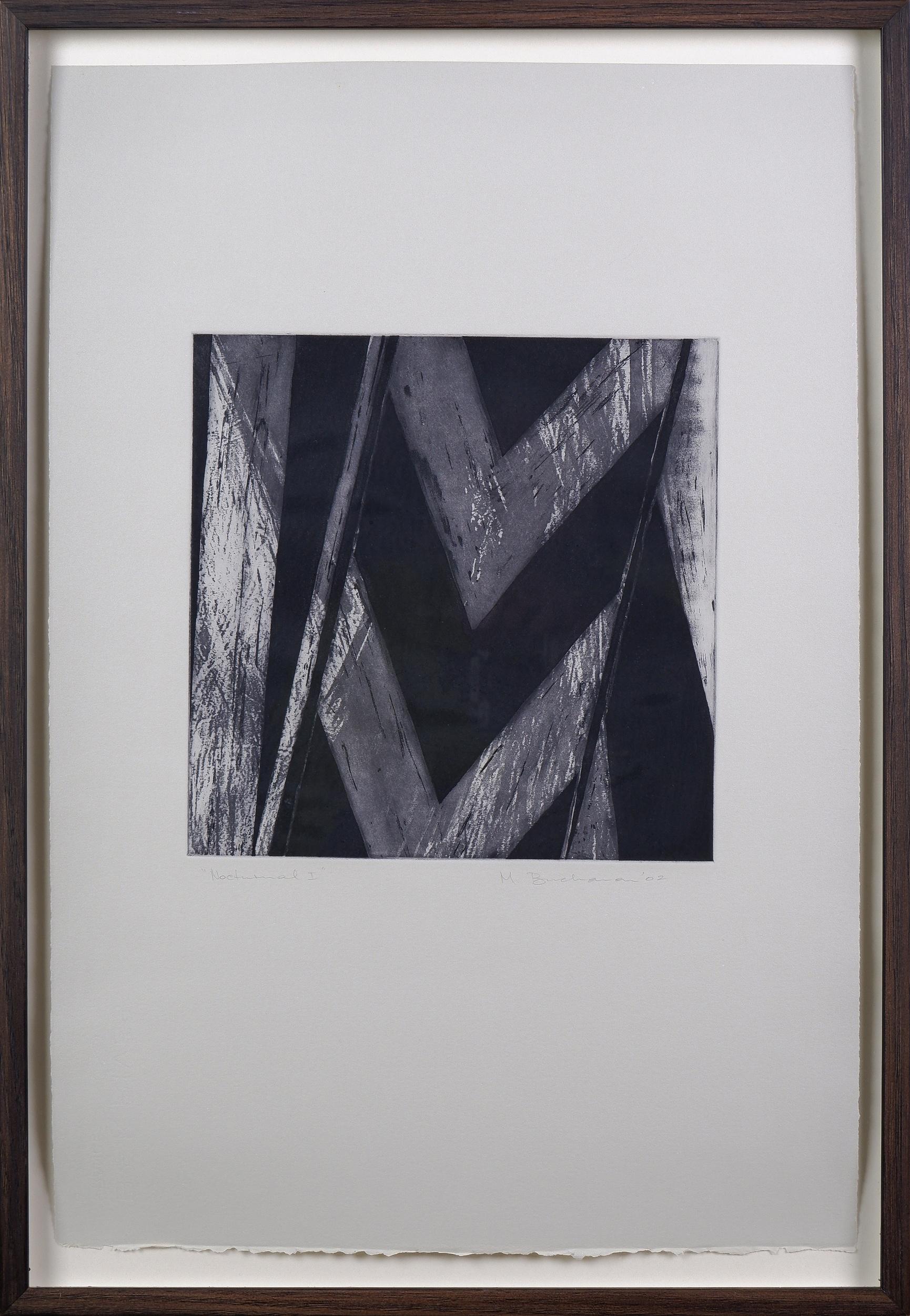 'Meg Buchanan (born 1949), Nocturnal I 2002, Etching & Aquatint, Unique State, 24.5 x 24.5 cm (image size)'