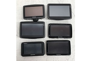 Navman and TomTom Assorted GPS Devices - Lot of Six