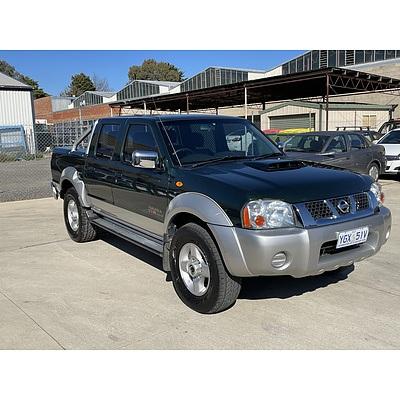 2/2009 Nissan Navara ST-R (4x4) D22 MY08 Dual Cab P/up green 2.5L