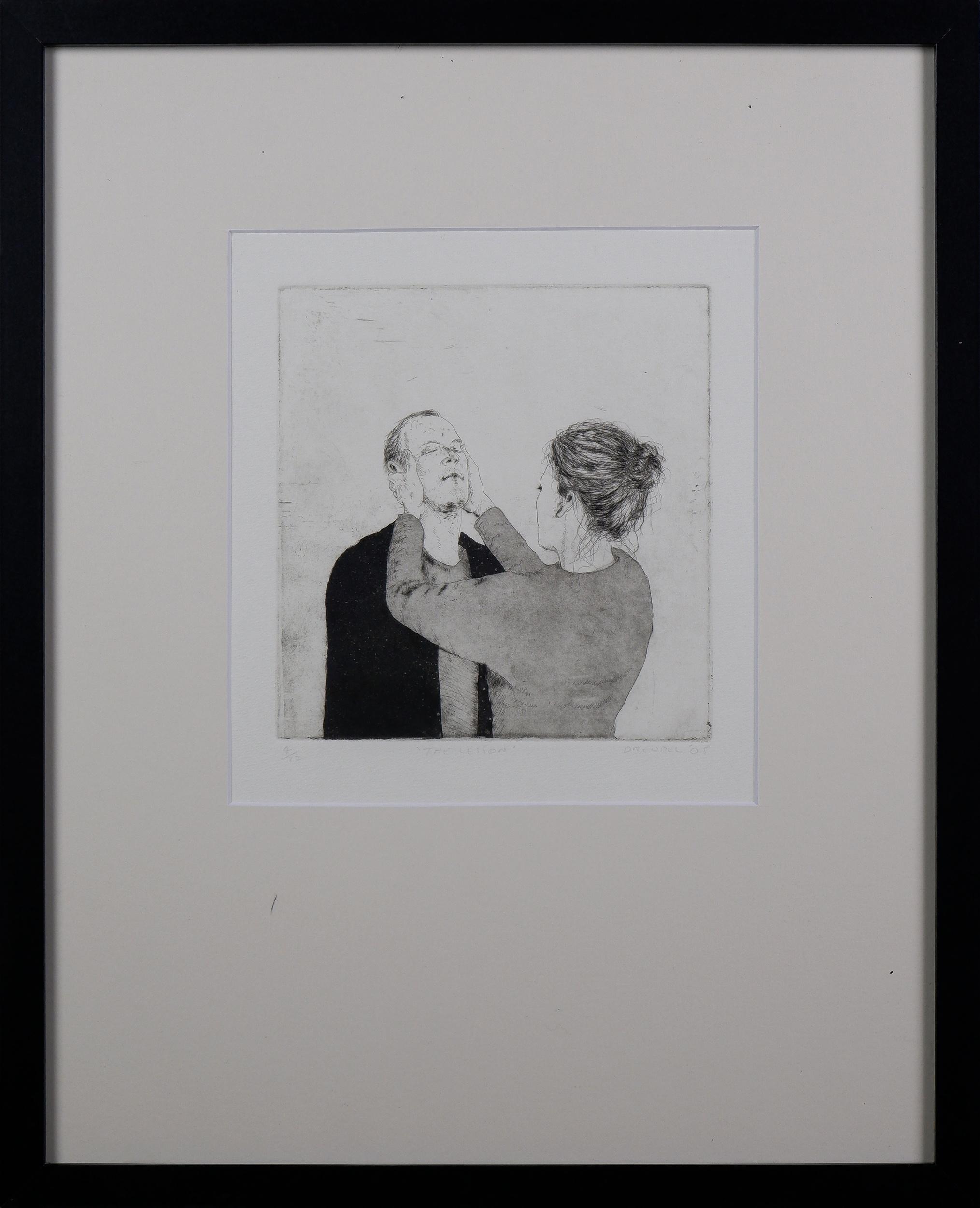 'Graeme Drendel (born 1953), The Lesson 2005, Etching, 19.5 x 18.5 cm (image size)'