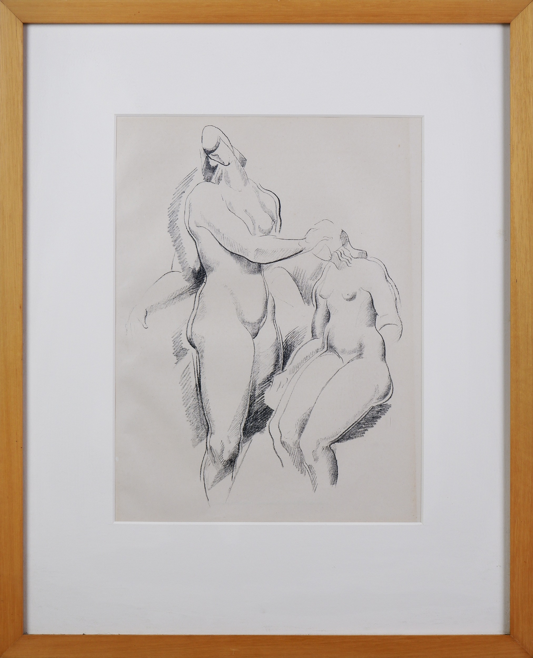 'Alexander Archipenko (1887-1964 Ukrainian/American), Figurliche Komposition c1920, Lithograph, 32.5 x 23 cm'