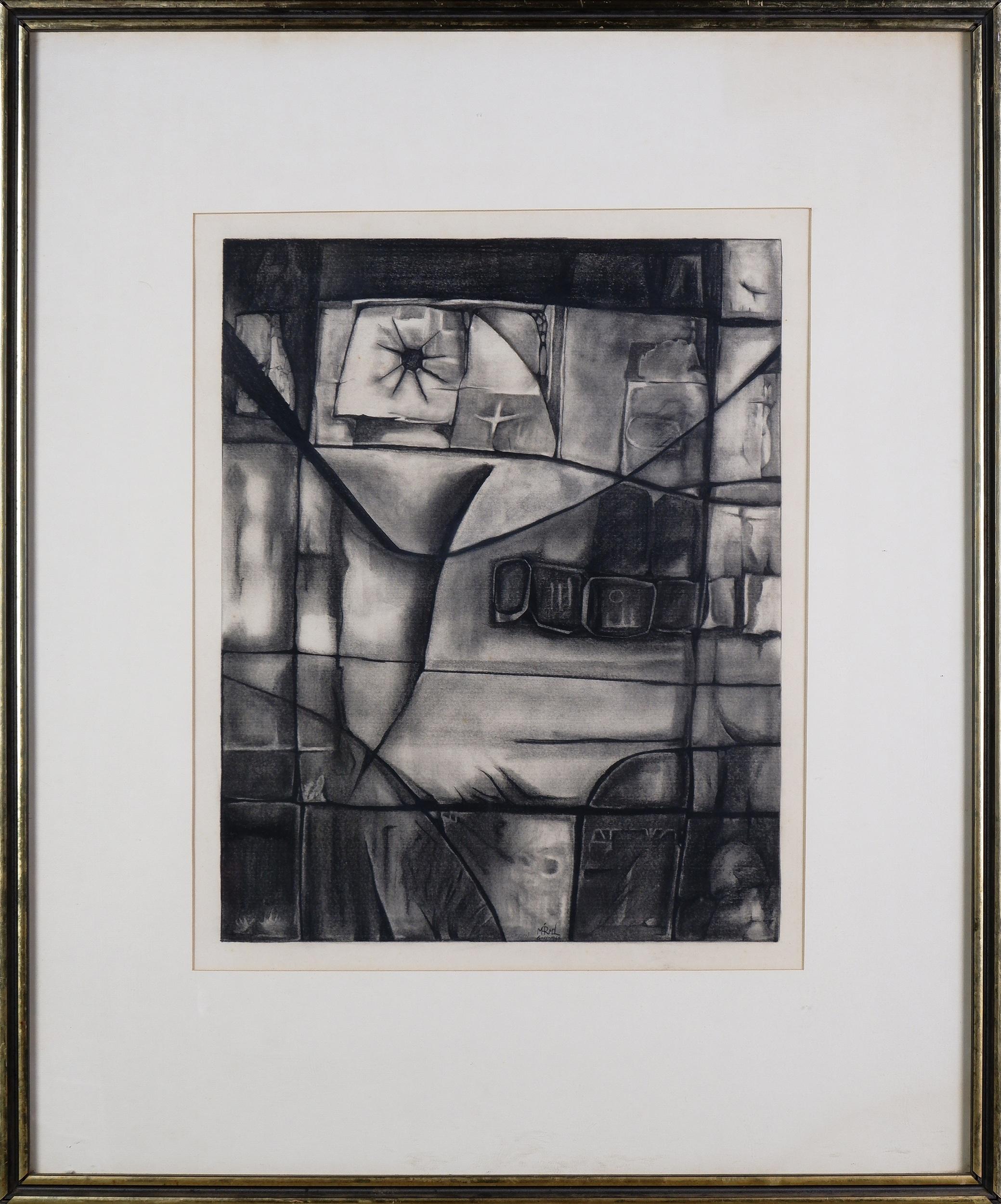 'Ignacio Marmol (1934-1994), Zampun 1966, Charcoal, 50 x 40 cm'