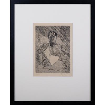 Jacques Villon (1875-1963, French), La Mere 1949, Etching, 24 x 18 cm