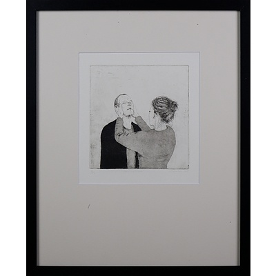 Graeme Drendel (born 1953), The Lesson 2005, Etching, 19.5 x 18.5 cm (image size)
