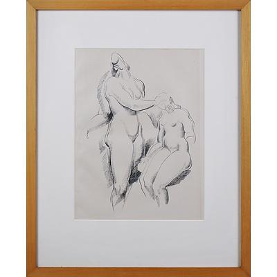 Alexander Archipenko (1887-1964 Ukrainian/American), Figurliche Komposition c1920, Lithograph, 32.5 x 23 cm