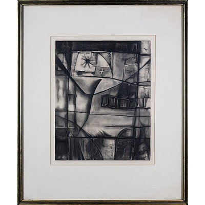 Ignacio Marmol (1934-1994), Zampun 1966, Charcoal, 50 x 40 cm