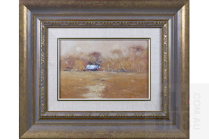 Ken Knight (born 1956), The Forgotten Cottage 1986, Oil on Board, 29 x 39 cm