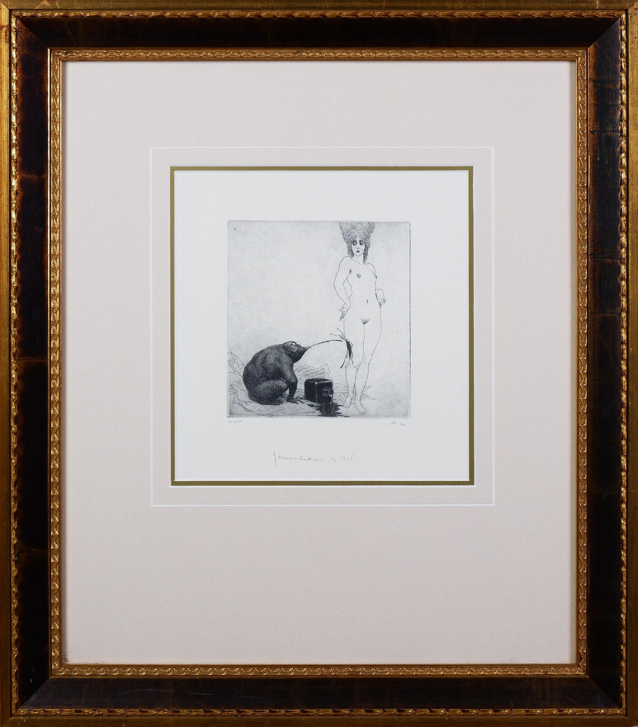 'Norman Lindsay (1879-1969), Journalism & Art, Facsimile Etching, 15 x 14 cm'
