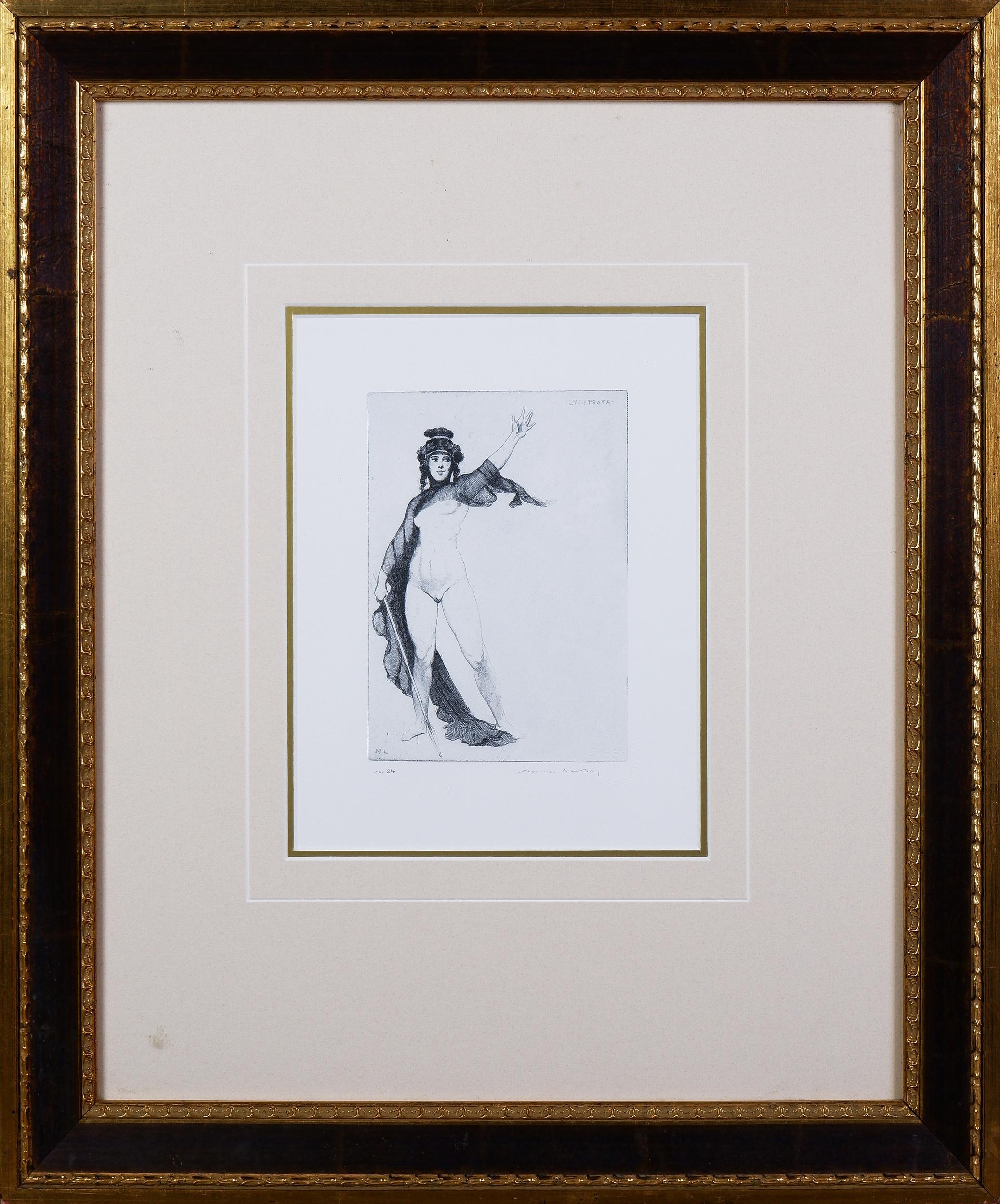 'Norman Lindsay (1879-1969), Lysistrata, Facsimile Etching, 17.5 x 13 cm'