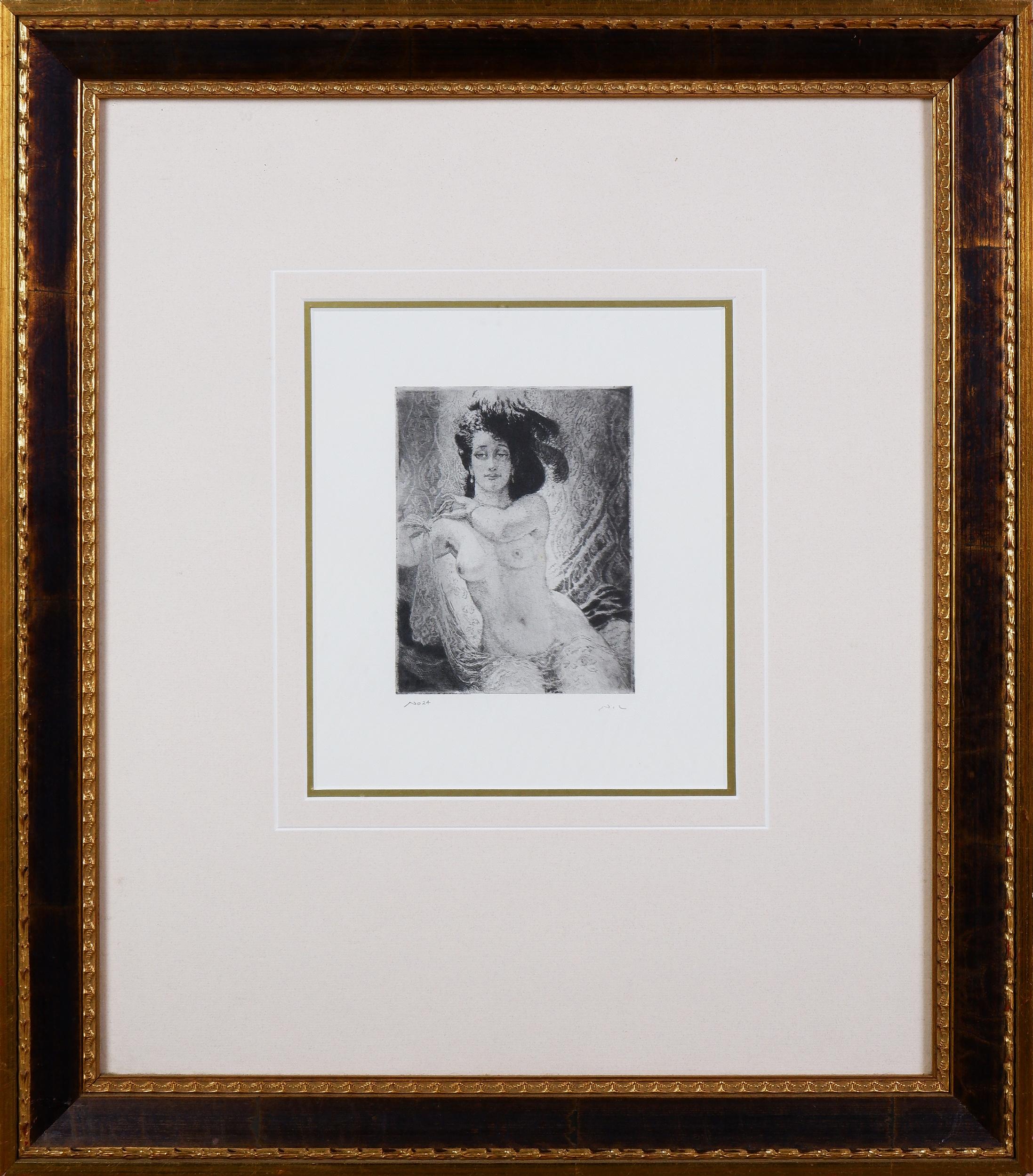 'Norman Lindsay (1879-1969), Rita, Facsimile Etching, 14.5 x 11 cm'