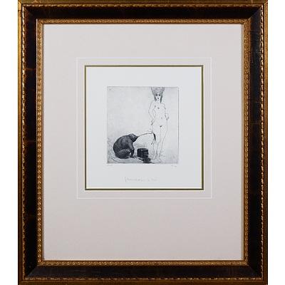 Norman Lindsay (1879-1969), Journalism & Art, Facsimile Etching, 15 x 14 cm (image size)