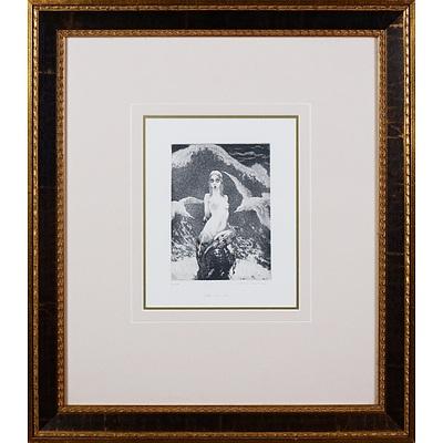Norman Lindsay (1879-1969), Little Mermaid, Facsimile Etching, 17.5 x 12.5 cm (image size)