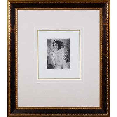 Norman Lindsay (1879-1969), Rita, Facsimile Etching, 14.5 x 11 cm (image size)