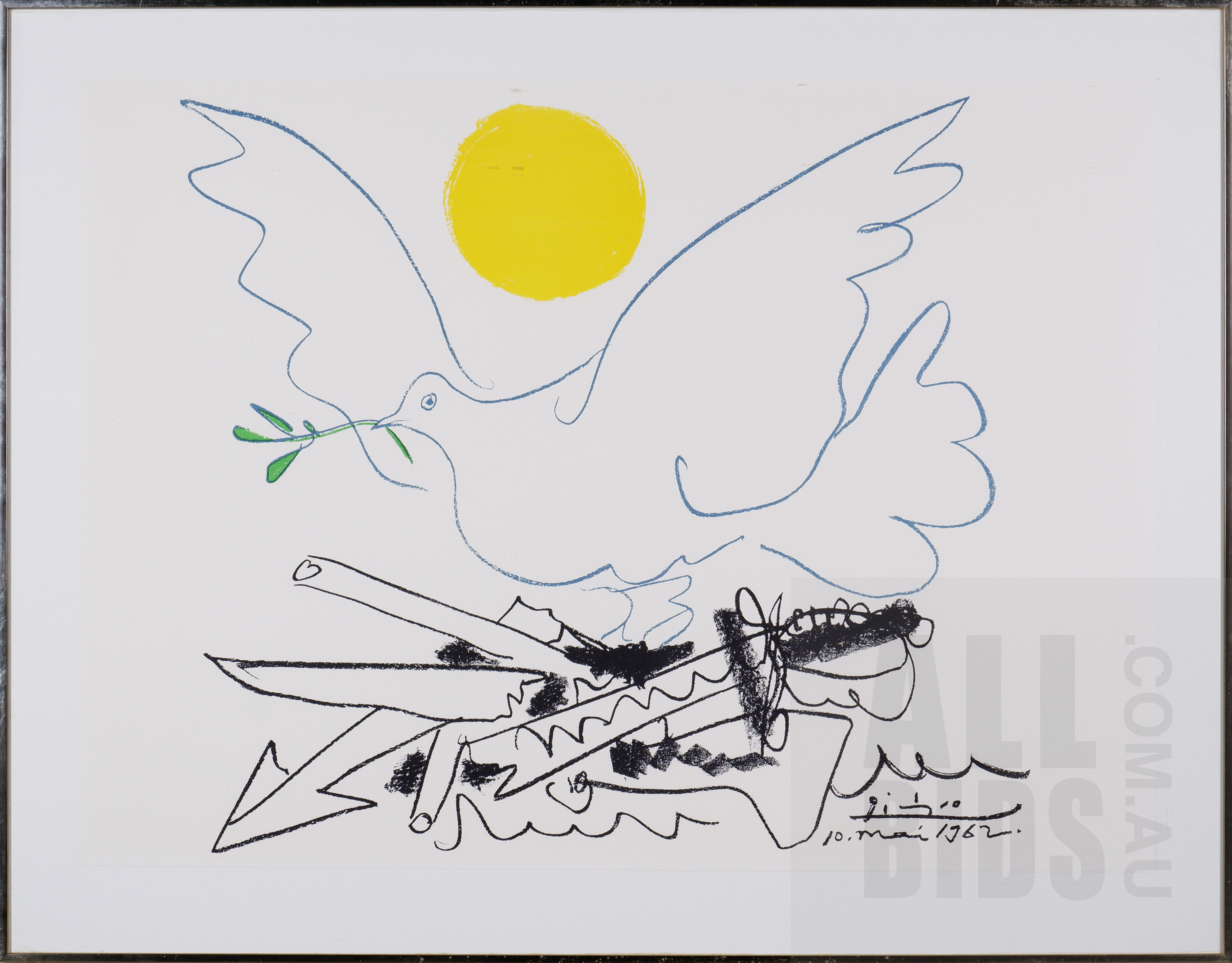 'Pablo Picasso (1881-1973, Spanish), Poster for World Congress for General Disarmament and Peace 1962, Offset Lithograph, 55 x 76 cm (sheet size)'