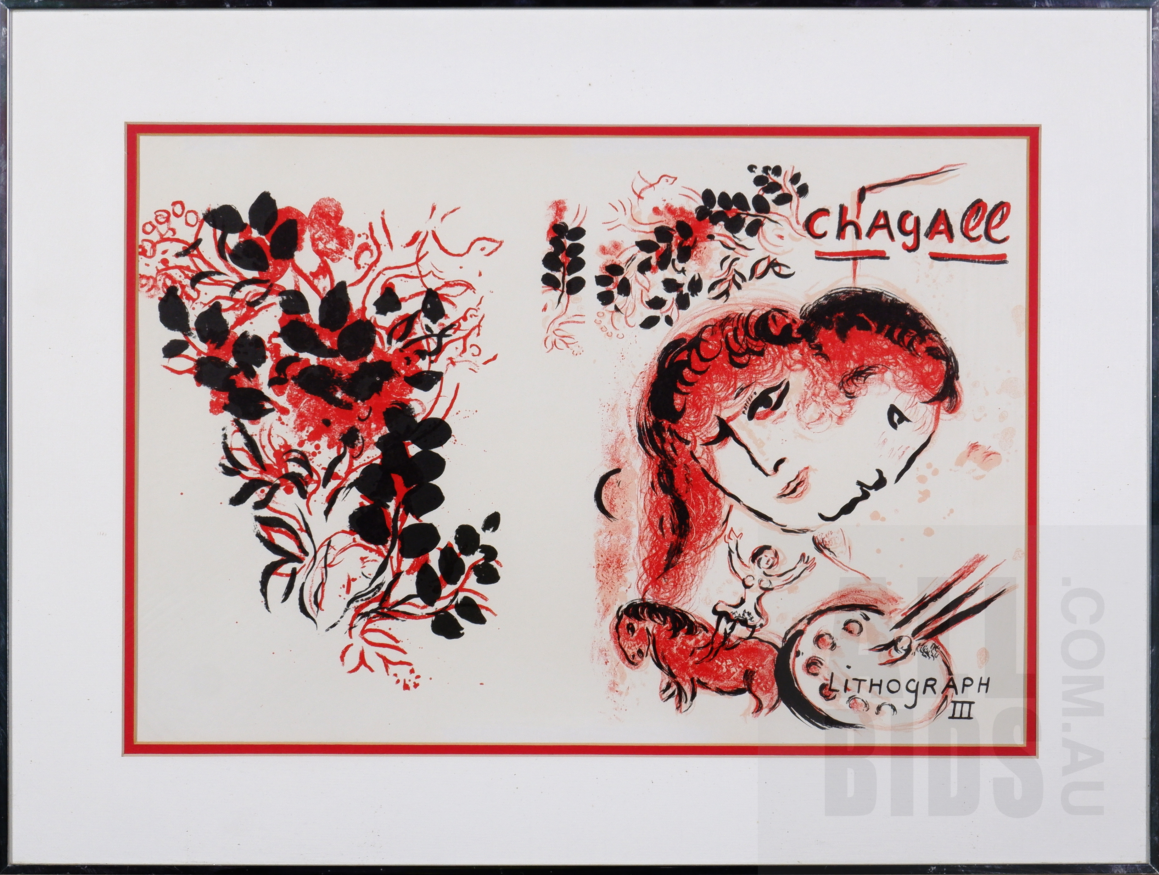 'Marc Chagall (1887-1985, Russian/French), Lithographe III 1963, Lithograph, 35 x 52 cm (image size)'