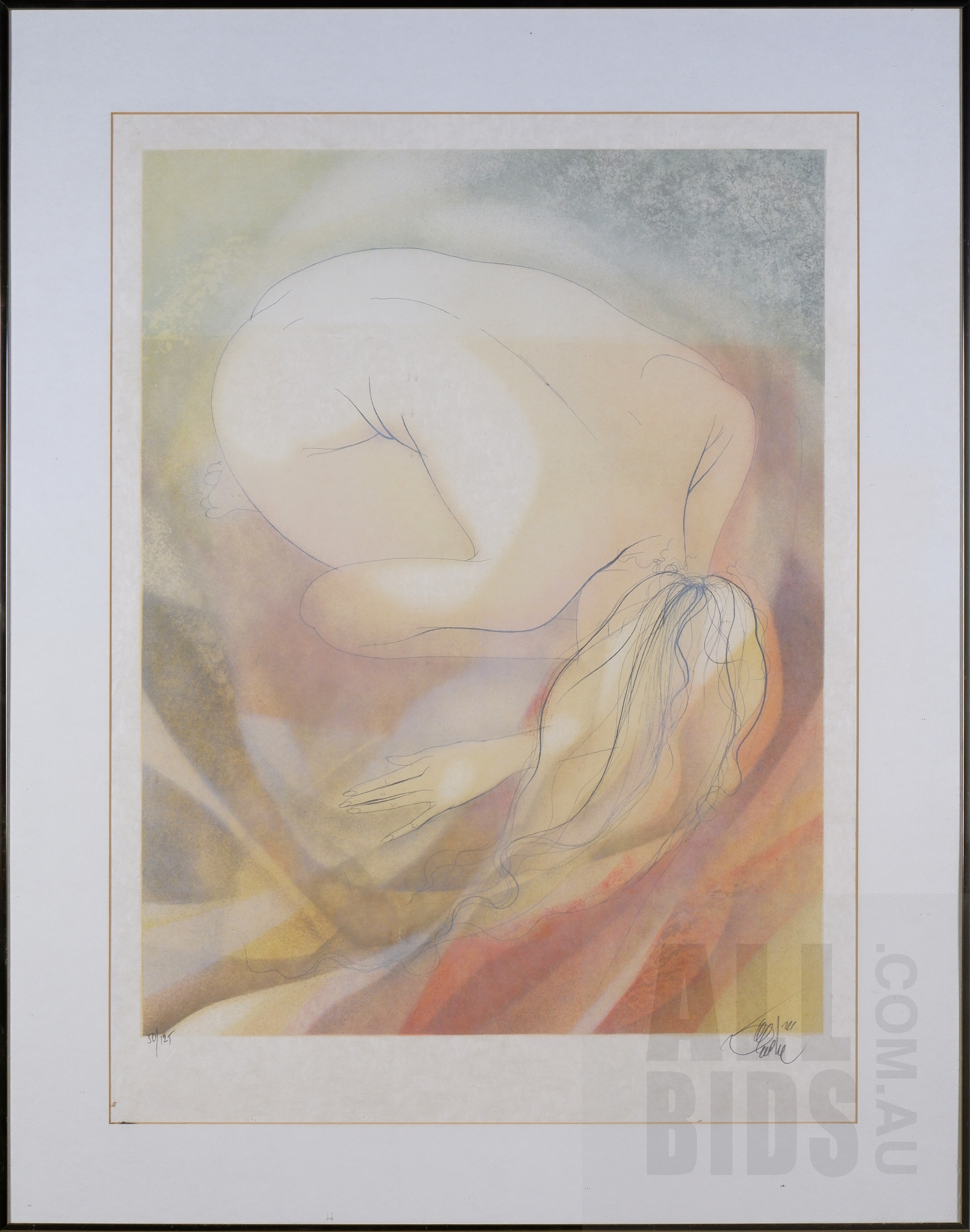 'Jean Baptiste Valadie (born 1933, French), Spirale, Lithograph, 65 x 50 cm (image size)'
