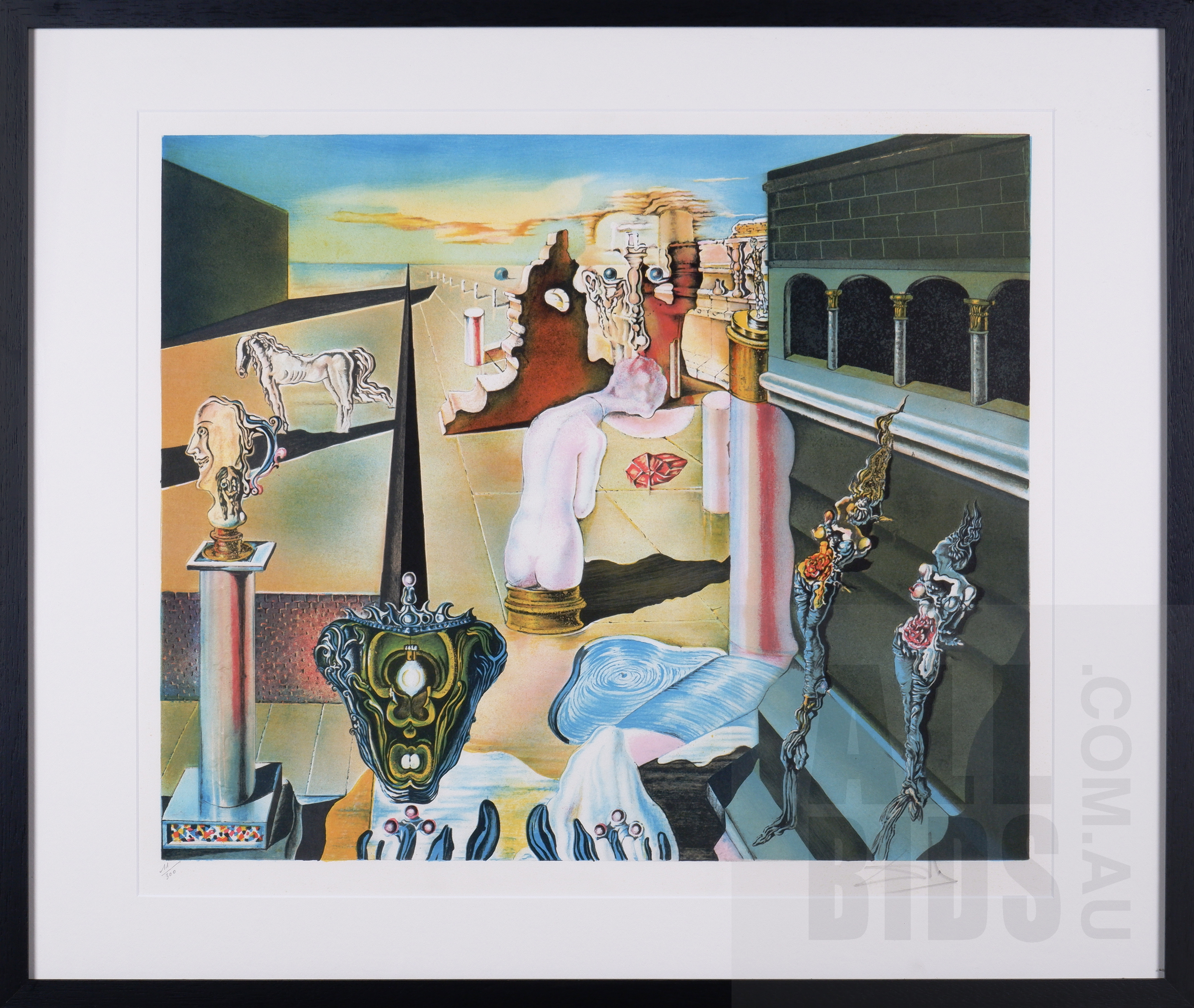'Salvador Dali (1904-1989, Spanish), LHomme Invisible, Lithograph, 48 x 58.5 cm (image size)'