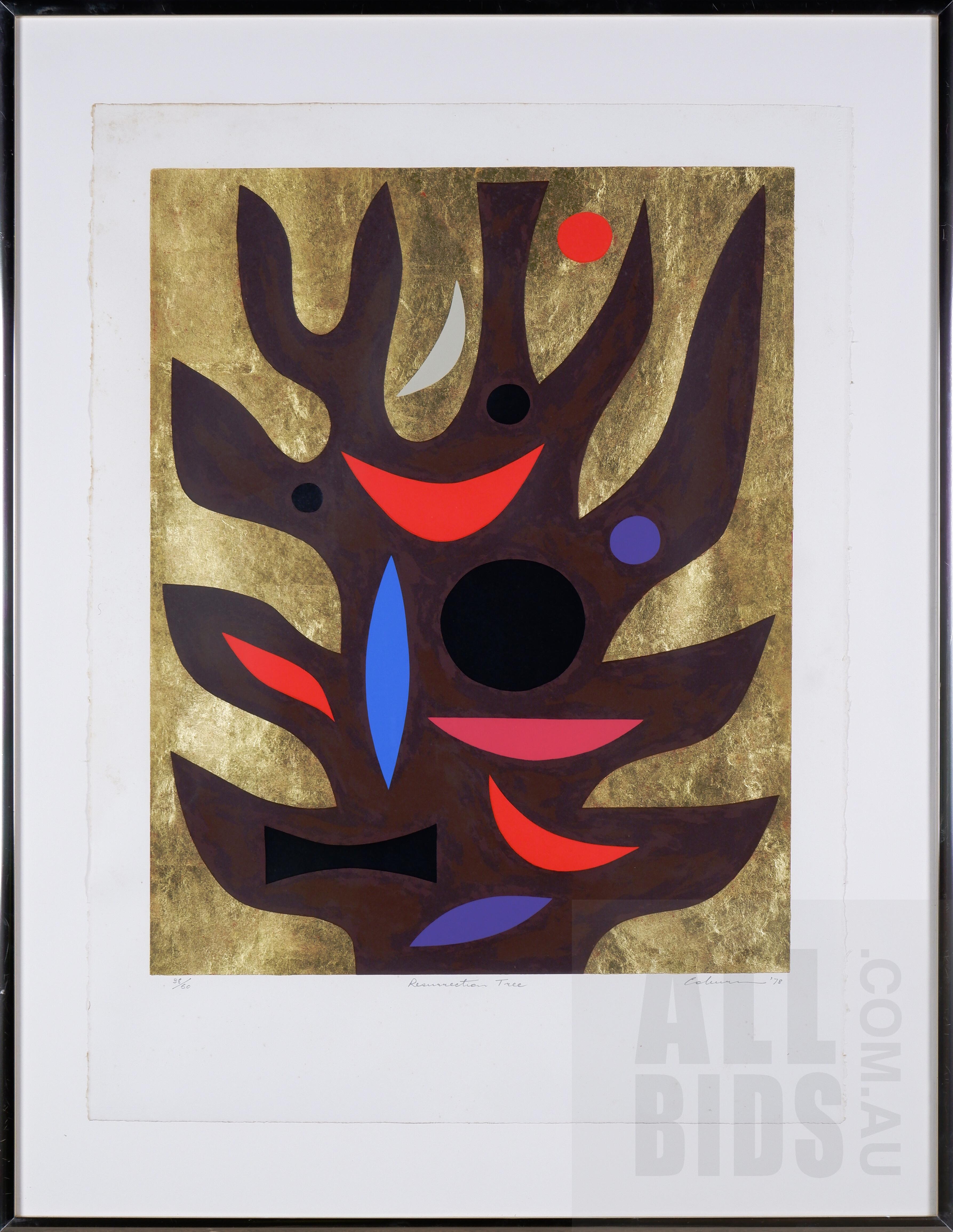 'John Coburn (1931-1986), Resurrection Tree 1978, Screenprint, 60 x 48 cm (image size)'