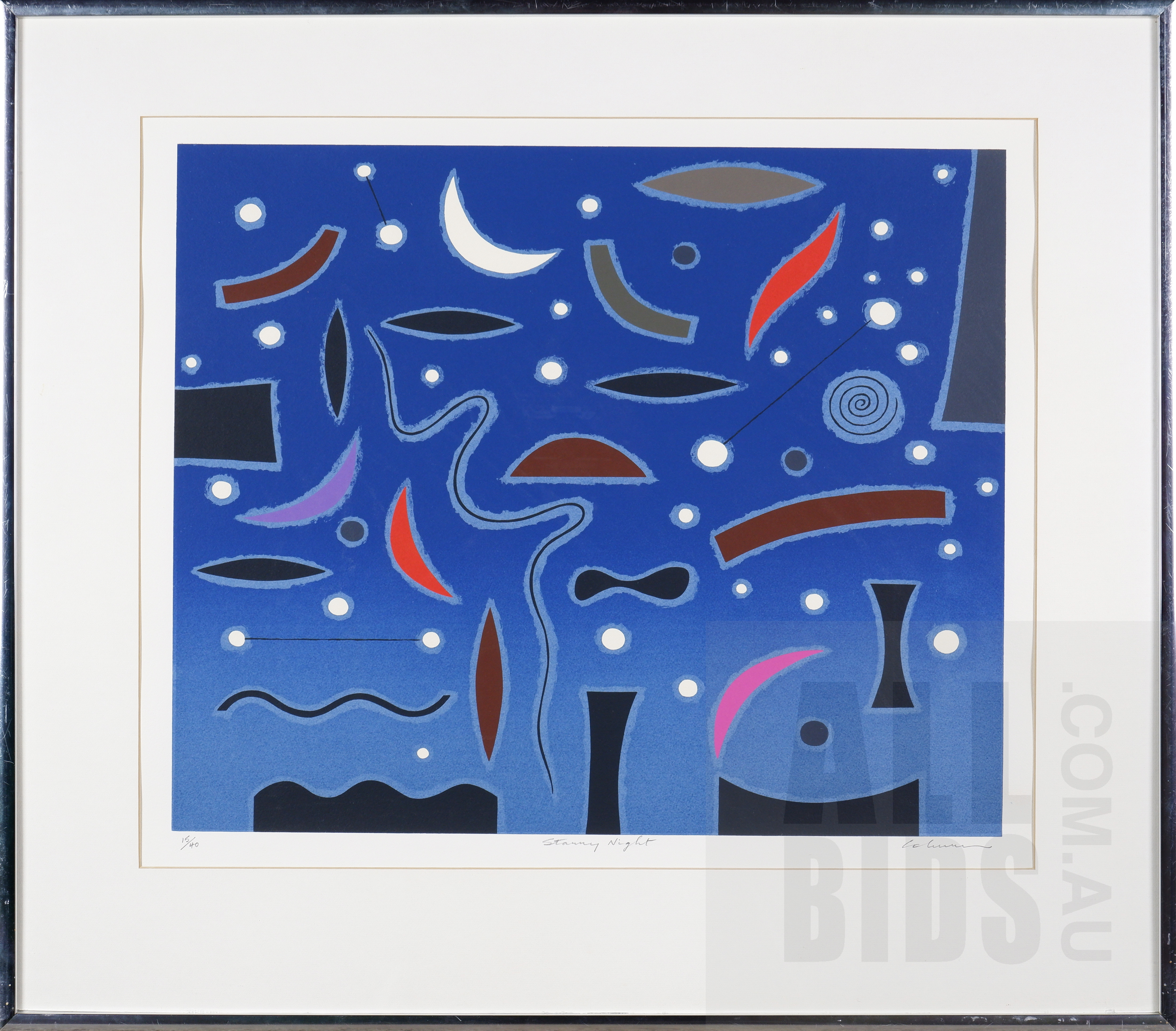 'John Coburn (1931-1986), Starry Night, Screenprint, 47 x 58 cm (image size)'