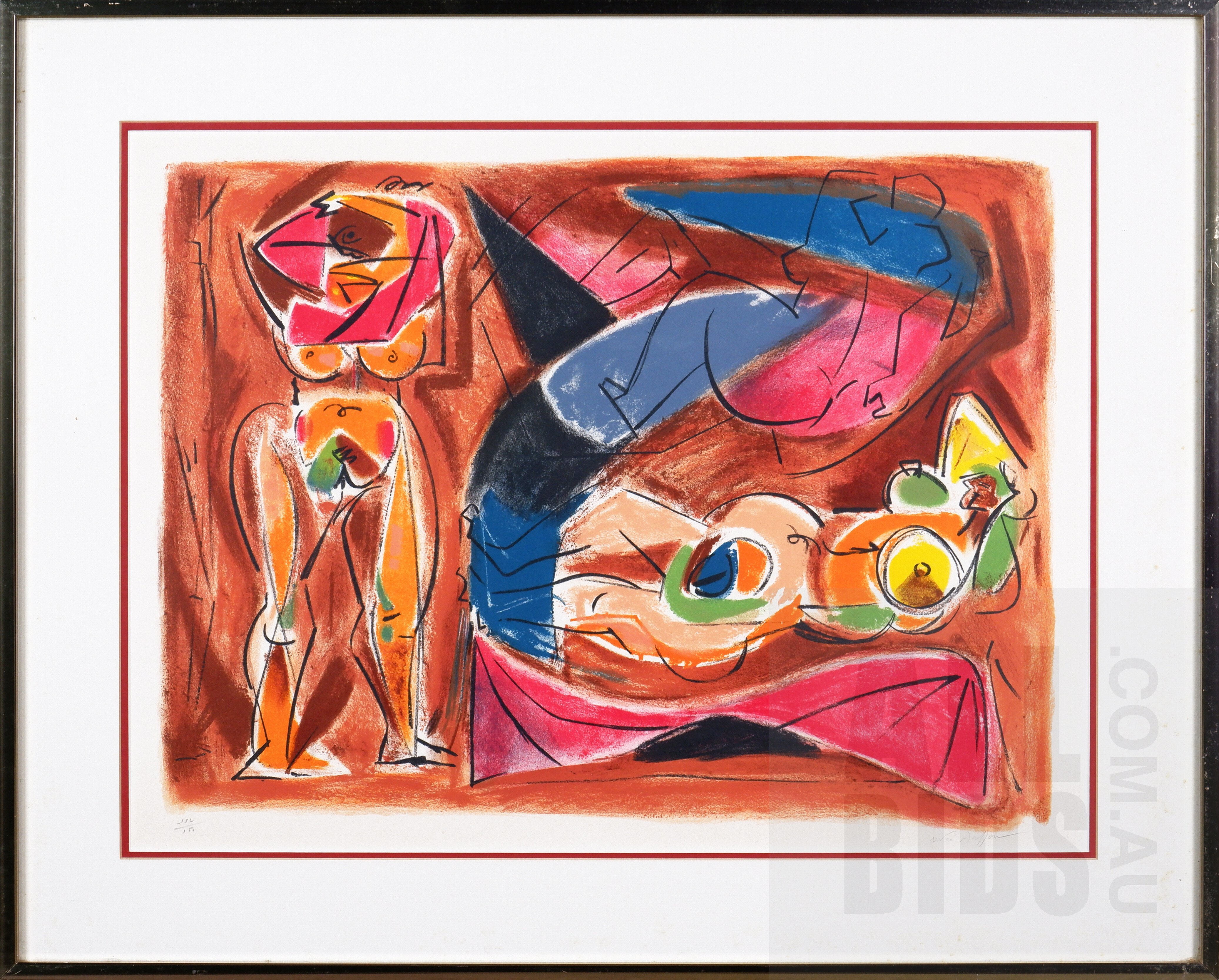 'Andre Masson (20th Century), Untitled, Lithograph, 40 x 55 cm (image size)'