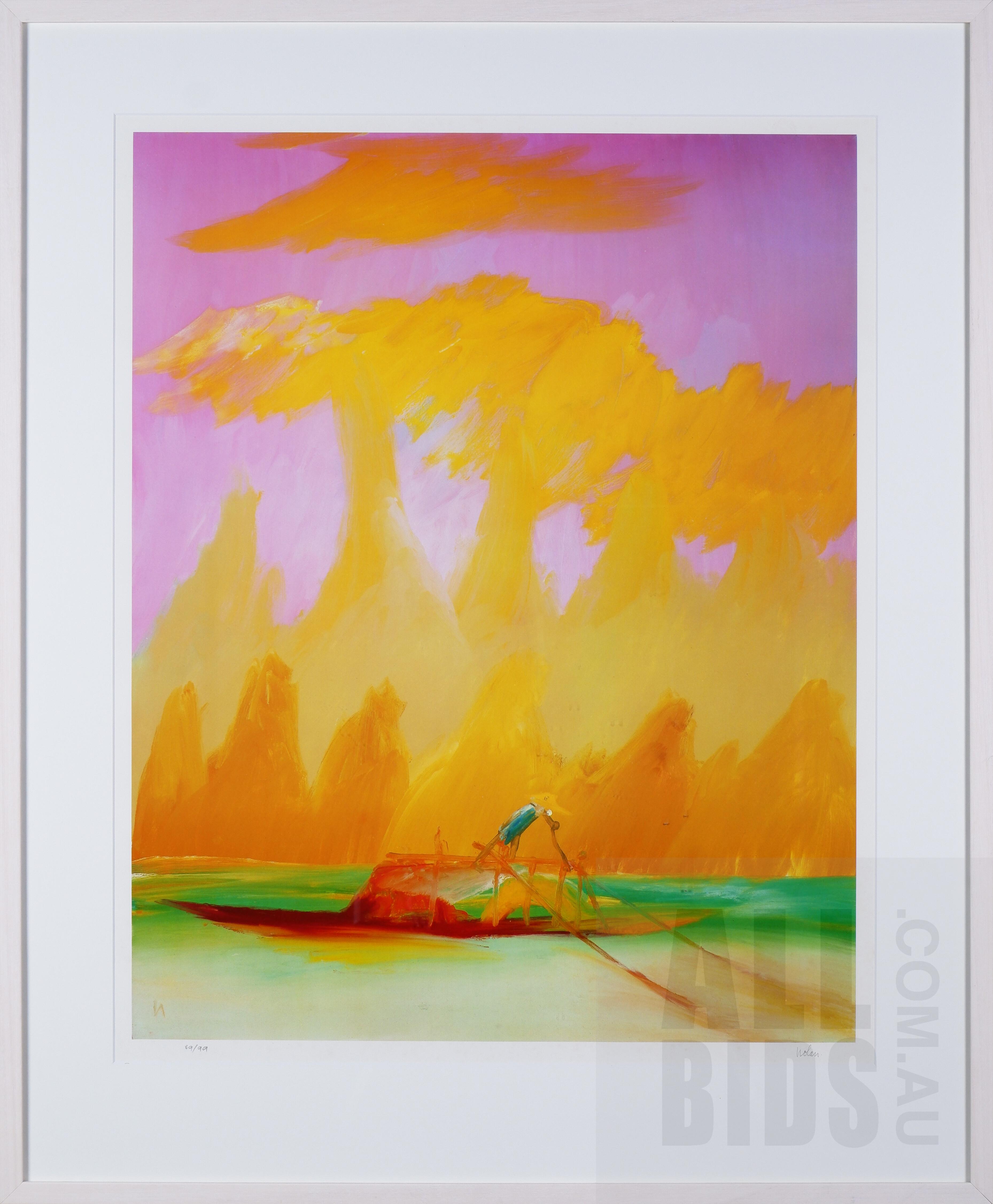 'Sidney Nolan (1917-1992), River Kwai Series, Photolithograph, 72 x 57 cm (image size)'
