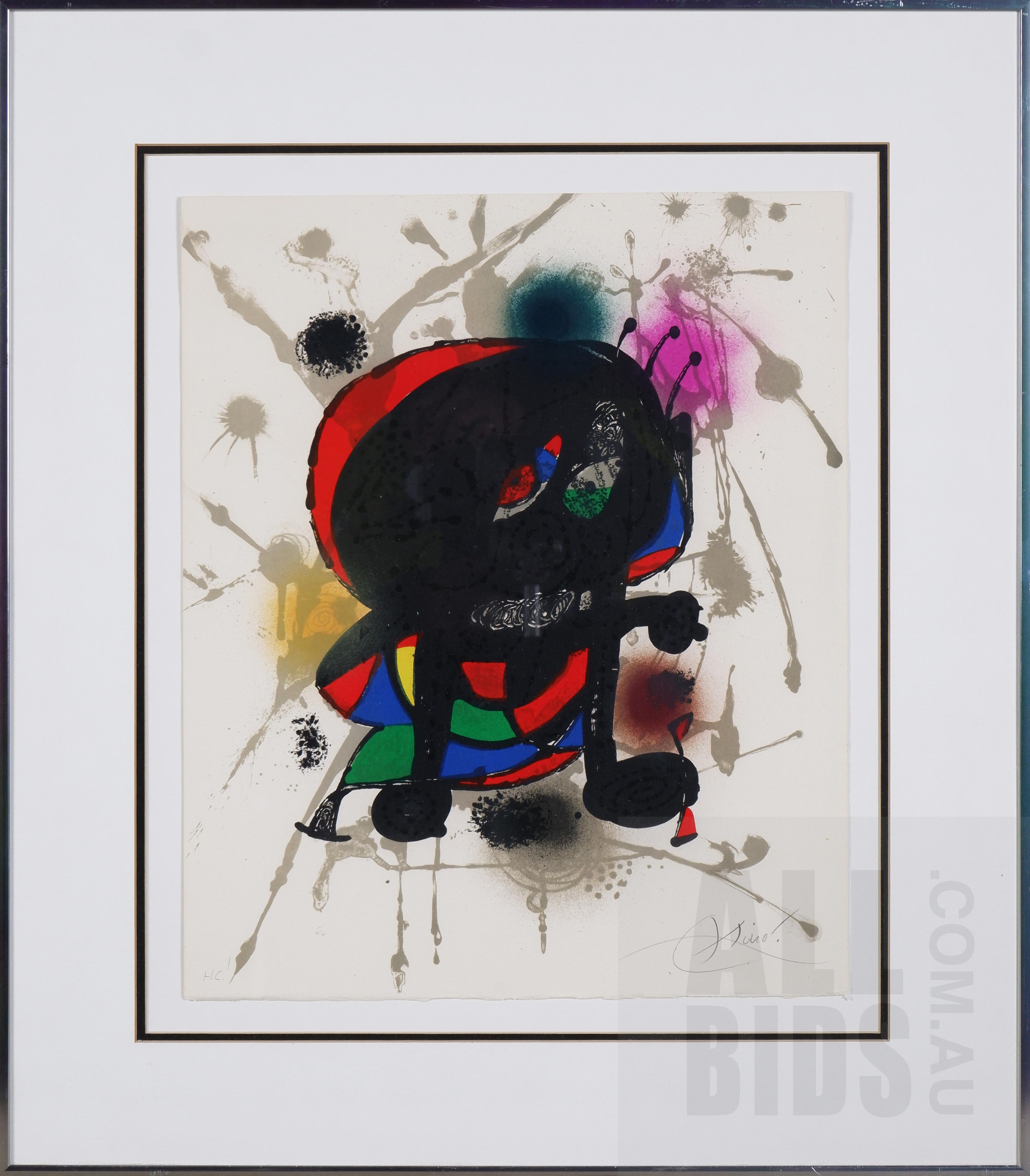 'Joan Miro (1893-1983, Spanish), Original Litografica III 1977, Lithograph, 45 x 37 cm (sheet size)'