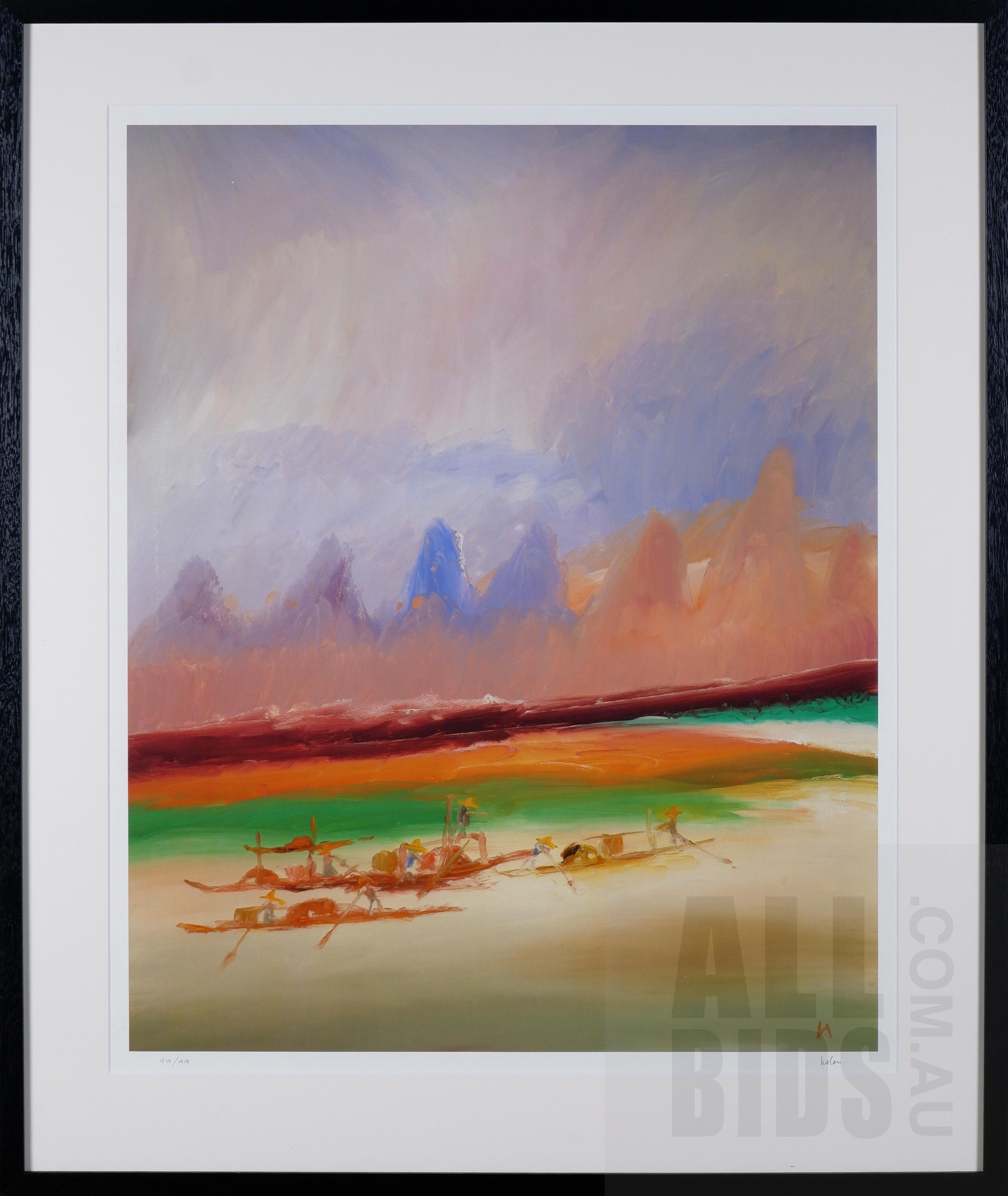 'Sidney Nolan (1917-1992), River Kwai Series, Photolithograph, 71 x 57 cm (image size)'