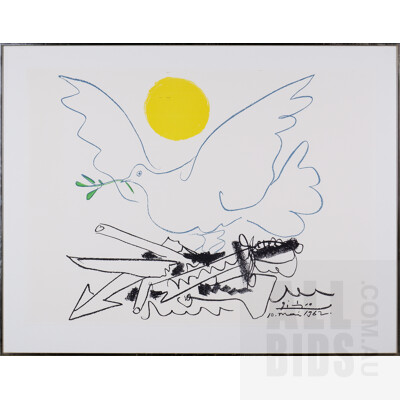 Pablo Picasso (1881-1973, Spanish), Poster for World Congress for General Disarmament and Peace 1962, Offset Lithograph, 55 x 76 cm (sheet size)
