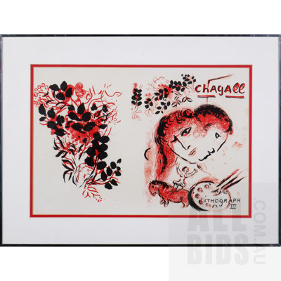 Marc Chagall (1887-1985, Russian/French), Lithographe III 1963, Lithograph, 35 x 52 cm (image size)