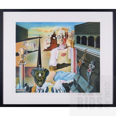Salvador Dali (1904-1989, Spanish), L'Homme Invisible, Lithograph, 48 x 58.5 cm (image size)