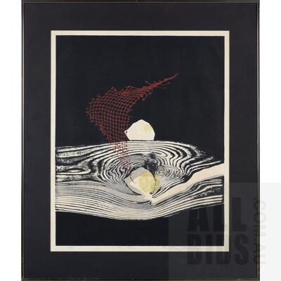 Reika Iwami (1927-2020 Japanese), Water Ripples 1976, Woodblock, 66 x 50 cm (image size)
