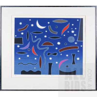 John Coburn (1931-1986), Starry Night, Screenprint, 47 x 58 cm (image size)