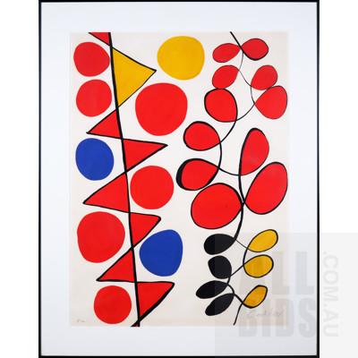 Alexander Calder (1898-1976, American), Composition c1970, Lithograph, 77 x 58 cm (image size)