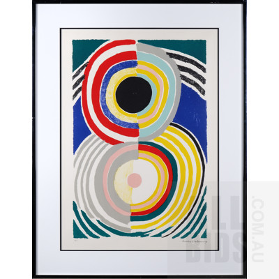 Sonia Delaunay (1885-1995, French), Cible c1970, Lithograph, 55 x 37 cm (image size)