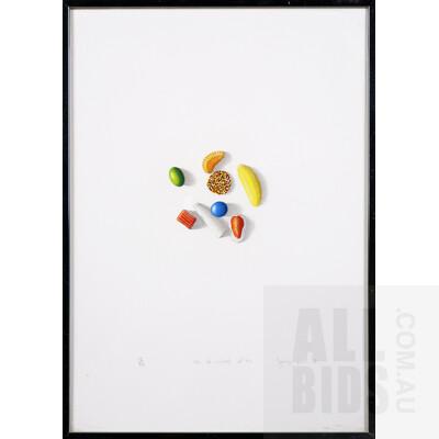 Grant Jorgensen (born 1955), 10c of Mixed Lollies 1981, Lithograph, 8 x 7.5 cm (image size)