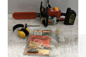 Stihl 023 2 Stroke Petrol Chainsaw And Accessories